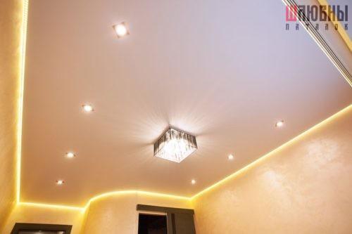 Парящий потолок - освещение Шлюбны